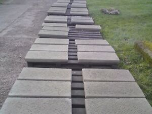 Image Is Loading STONE GARDEN FLAT TOP DOUBLE BRICK COPING PIER