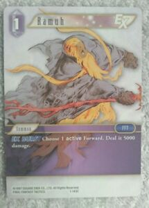 Final Fantasy TCG Opus 1 Wave 1 Ramuh 1-143C Non Foil Common