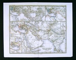 1866-Stulpnagel-Map-Alexander-Empire-Middle-East-Routes-India-Hellenistic-Greece