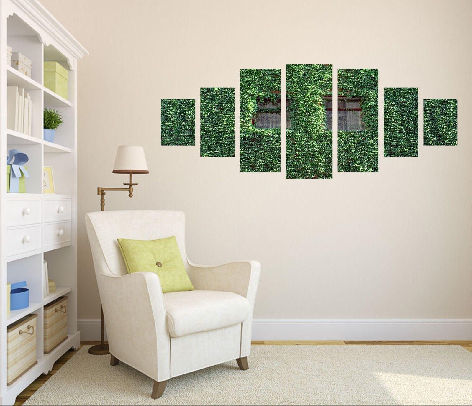 3D Green Leaf Window 41 Unframed Print Wall Paper Decal Wall Deco Indoor AJ Wall