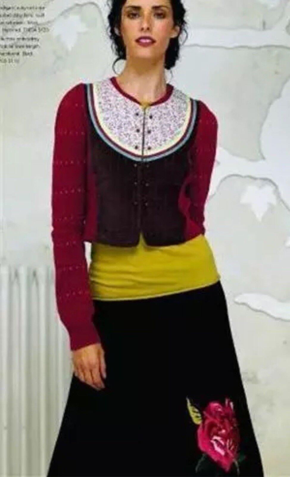 Anthropologie purple Rare pink Splendor Skirt Medium