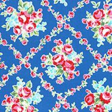 Vintage Retro Shabby Flower Sugar Lecien 31269 77 Blue Lattice Rose Roses Chic