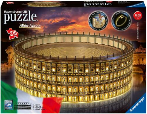 PUZZLE 3D COLOSSEO NIGHT EDITION RAVENSBURGER X11693 GIODICART