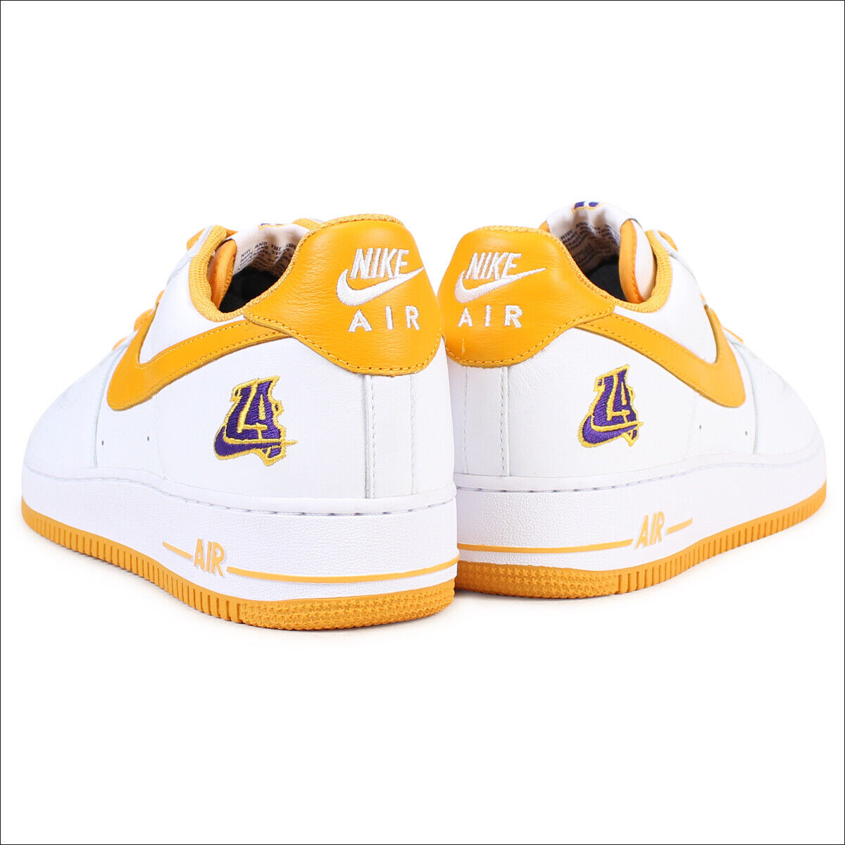 Undefeated x Nike Air Force 1 Low Low Low Retro LA Lakers White Yellow gold KOBE sz 10.5 91f495