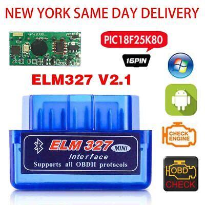New york same day delivery Bluetooth OBD2II module ELM327 OBD2