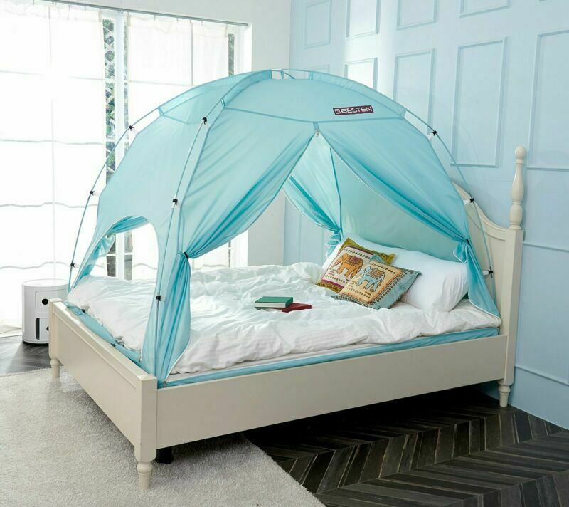 Besten Floorless Indoor Privacy Tent On Bed With Farbe Poles For Cozy Sleep In D