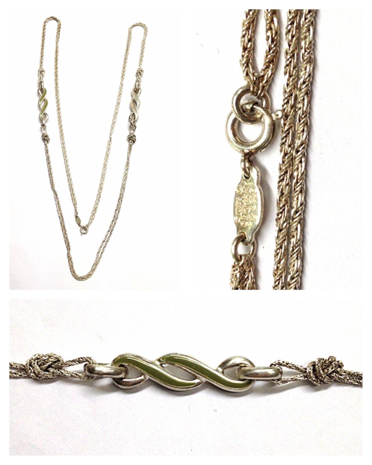 LUNGO silbekette L  90 cm Collier 925er Collana in silver Elemento intermedio