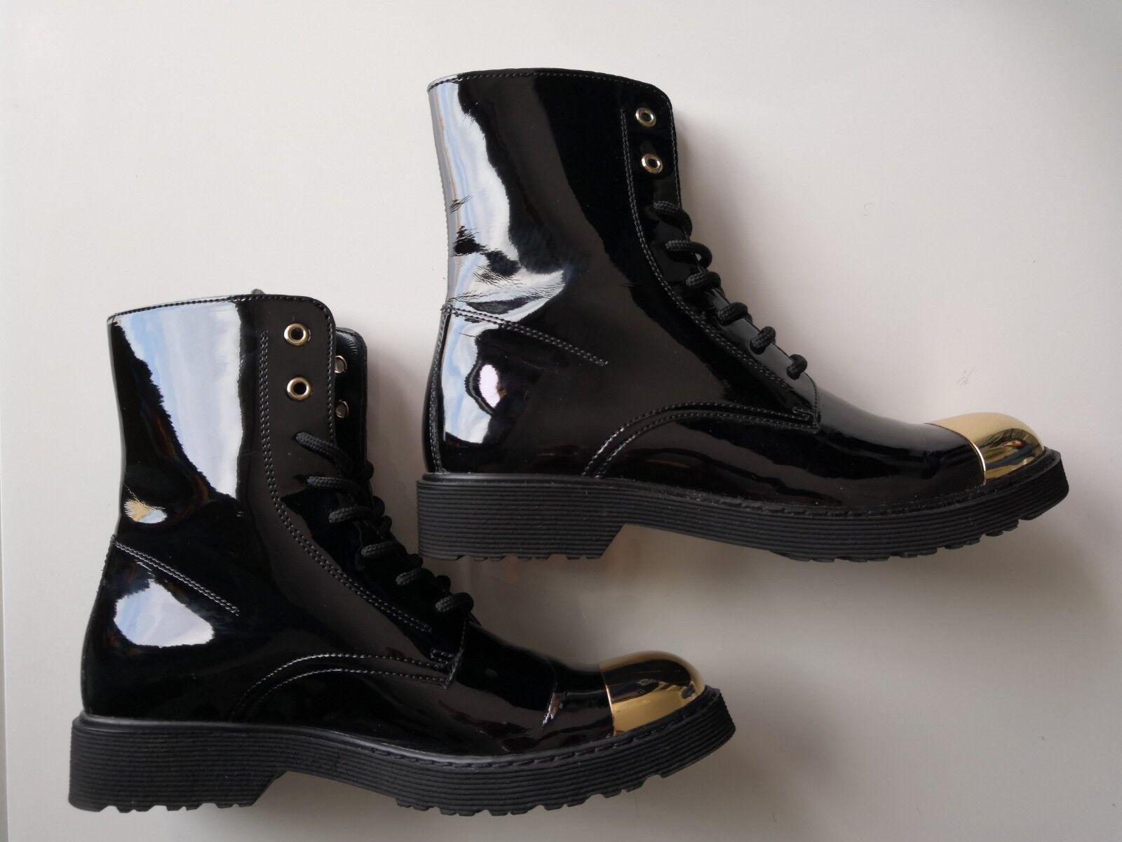 Cult avvio Amphiyan Italian scarpe, Genuine Leather nero,  Dimensione 38 AS NUOVO  bellissima