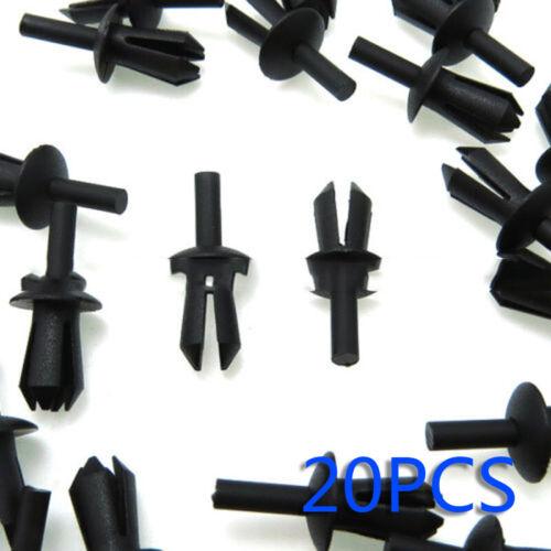 20x Black Plastic Bumper Push Type Expansion Retainer Rivet Fixing Clip For BMW