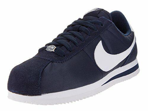 5a9195b8 Nike Men's Cortez Basic Nylon Obsidian/White/Mtllc Slvr Casual Shoe 10.5