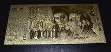 1000 Deutsche Mark DM Banknote Geldschein in Goldschein mit Zertifikat