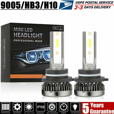 MINI HB3 9005 H10 LED Headlight Bulb Kit 70W 22000LM Xenon 6000K White Foglight