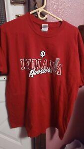 Gildan-Mens-XL-Indiana-Hoosiers-T-Shirt-Red-IU-New-Free-Shipping