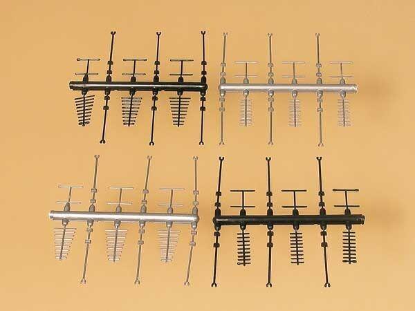 Auhagen 42653 - Aerials Black & Silver Plastic Kit HO/OO/TT