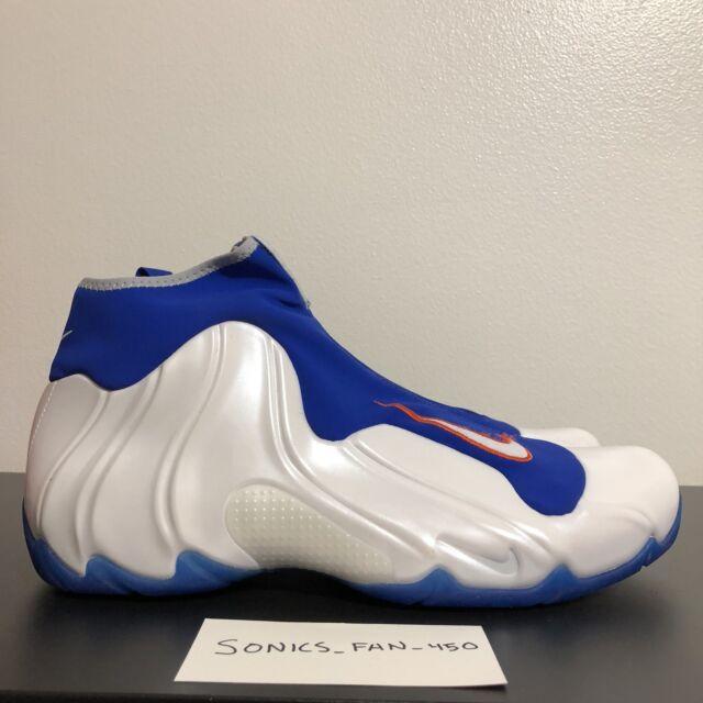 on sale b4efb 832ca Nike Air Flightposite 2014 Knicks White Game Royal Orange (642307-100) Size  13
