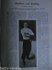 Duelists Duel Duelling Sword Fencing Rugby Basil Maclear Old Photo Article 1908
