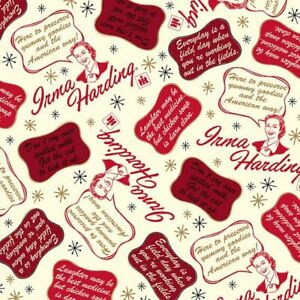 Country Paradise Fabric #9356 35 Country Signs OOP Quilt Shop Quality Cotton