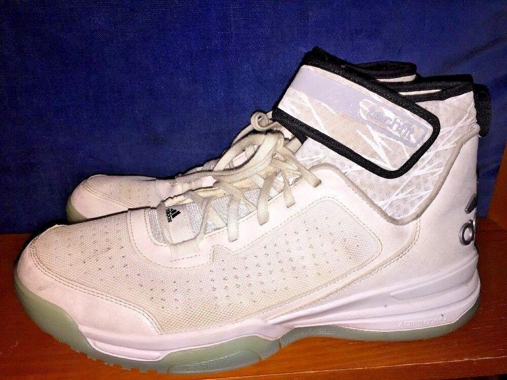 Adidas Tech Fit Dual Threat Hi Tops Schuhe Weiß Silber
