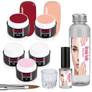 Acryl-Set-Pulver-Puder-5x5g-Fingernaegel-Powder-Acrylnaegel-100-ml-Liquid-Primer