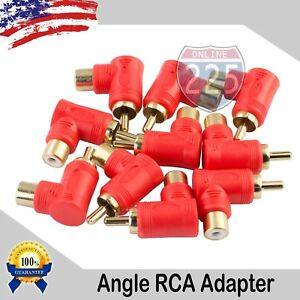 10-Pack-Gold-Plated-RCA-Right-Angle-Adapters-Male-to-Female-90-Angle-Connector