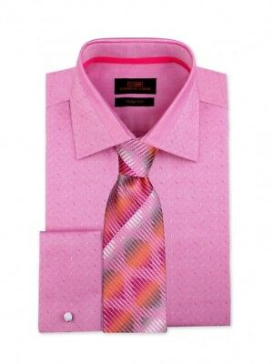 Dress Shirt Only Steven Land Trim /& Classic Fit French Cuff-Raspberry-TA1807-RS