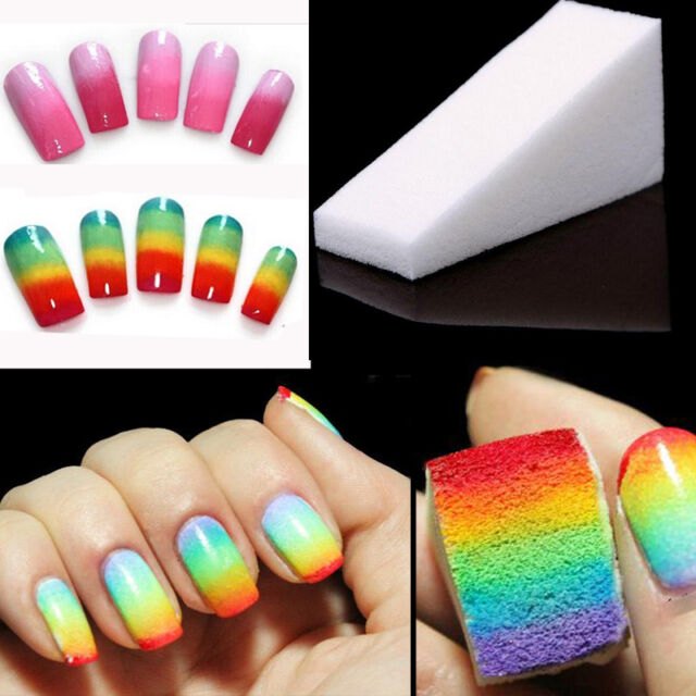 8pcs Beauty Nail Sponges For Nail Tips Polish Stamping Nail Art Manicure Tool