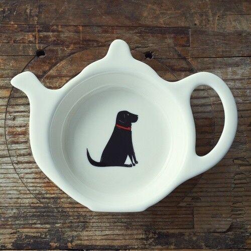 Tea Bag Holder Dish TidyCeramicBlack Labrador DogGreat Gift  Dog Lovers