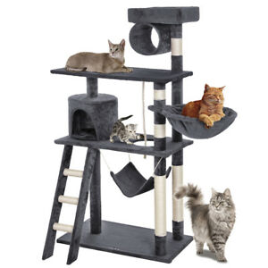 Chat grattant arbre playhouse chat grattant 142 cm gris