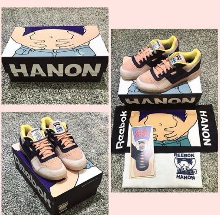 Reebok Workout lo X Hanon PLUS 'Belly SI FARA' YA 'esclusivo Taglia 8 RARO