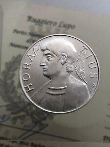 500-Livre-Horace-1993-FDC-der-Republik-Italienisch-Gedenkmuenzen