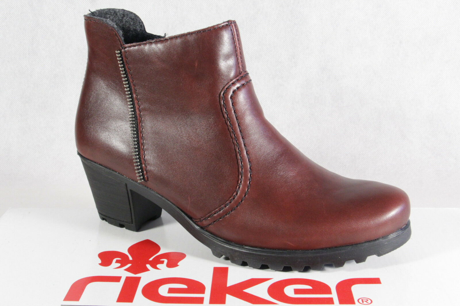 Rieker Women's Boots Ankle Boots Red Zip Y8070 New