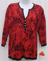 Size Petite Medium Top Red Leopard Print C D Petites Soft & Cuddly