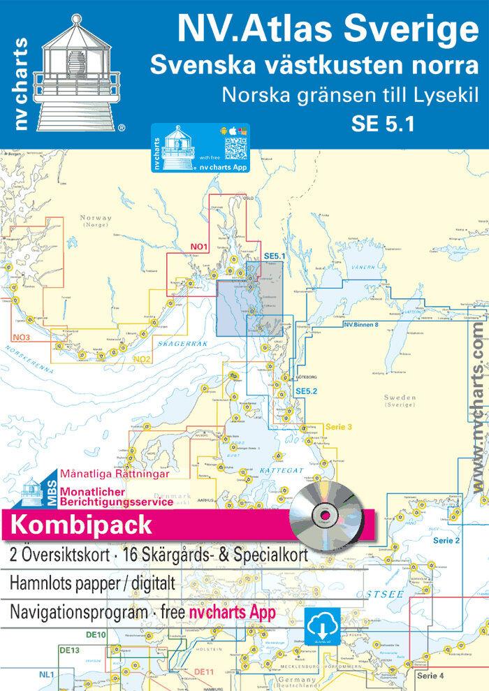 NV-Verlag Atlas SE 5.1 + SE 5.2  Schweden Sverige Sverige Sverige Westküste Nord und Süd 5066cb