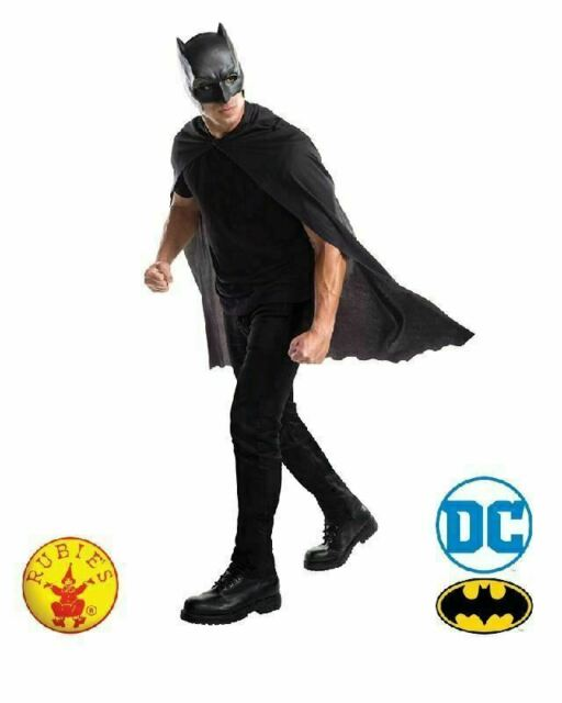 Batman DC Superhero Adult Mask and Cape Costume Set Officially Licensed