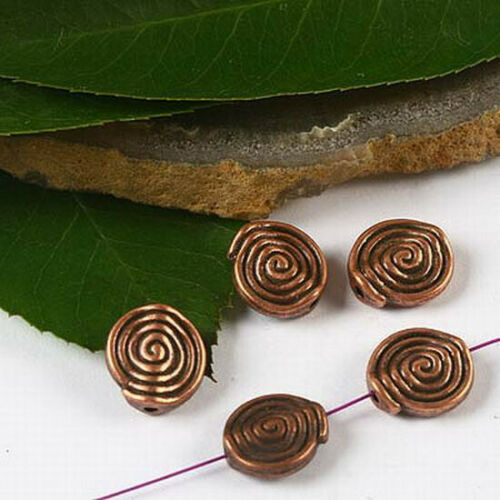 20pcs copper-tone snail spacer beads h2368