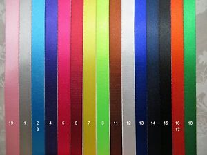 5/8'' (15mm) -12 Yards Colorful Nylon Webbing- Fine-Close-Thin, 10 color choices