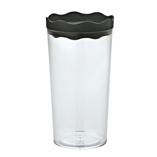 Koziol PRINCE L Storage Jar 1 Liter A Prince of a Storage Jar BLACK