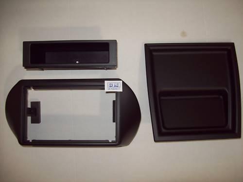 ISO Mascherina radio 1 DIN e Doppio 2 Din FIAT FIORINO QUBO con cassetto 1 DIN