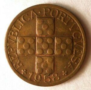 1958-Portugal-20-Centavos-Excellent-Vintage-Piece-Bonne-Affaire-Poubelle