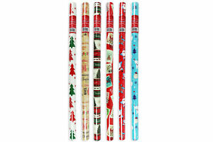 Christmas-Wrapping-Paper-6-Rolls-4-Metres-Long-Gift-Wrap-Xmas-Assorted-Designs