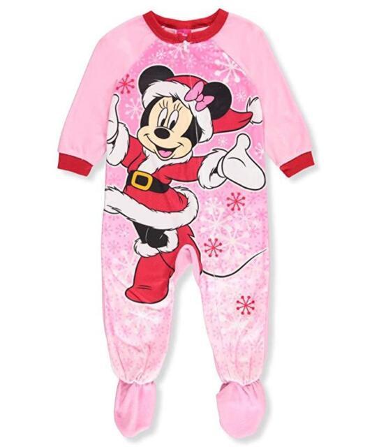 6cb5922ba Disney Minnie Mouse Toddler Girls Footed Fleece Christma Pajamas ...