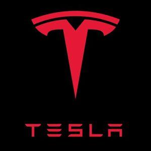 Tesla Logo Multilayered Carved Engraved Style 2 Color Vinyl Decal W Background Ebay