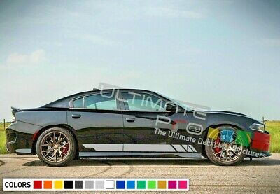 Sticker Decal Vinyl Side Door Stripes for Dodge Charger 2011-2017 SRT Hellcat SE