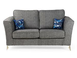 Aneka Sofa Set Grey Fabric 3 2 1 Sofas