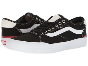 Details zu VANS CHIMA PRO CANVAS BLACK WHITE SKATE SHOES MEN SIZES VN0A3MTI187