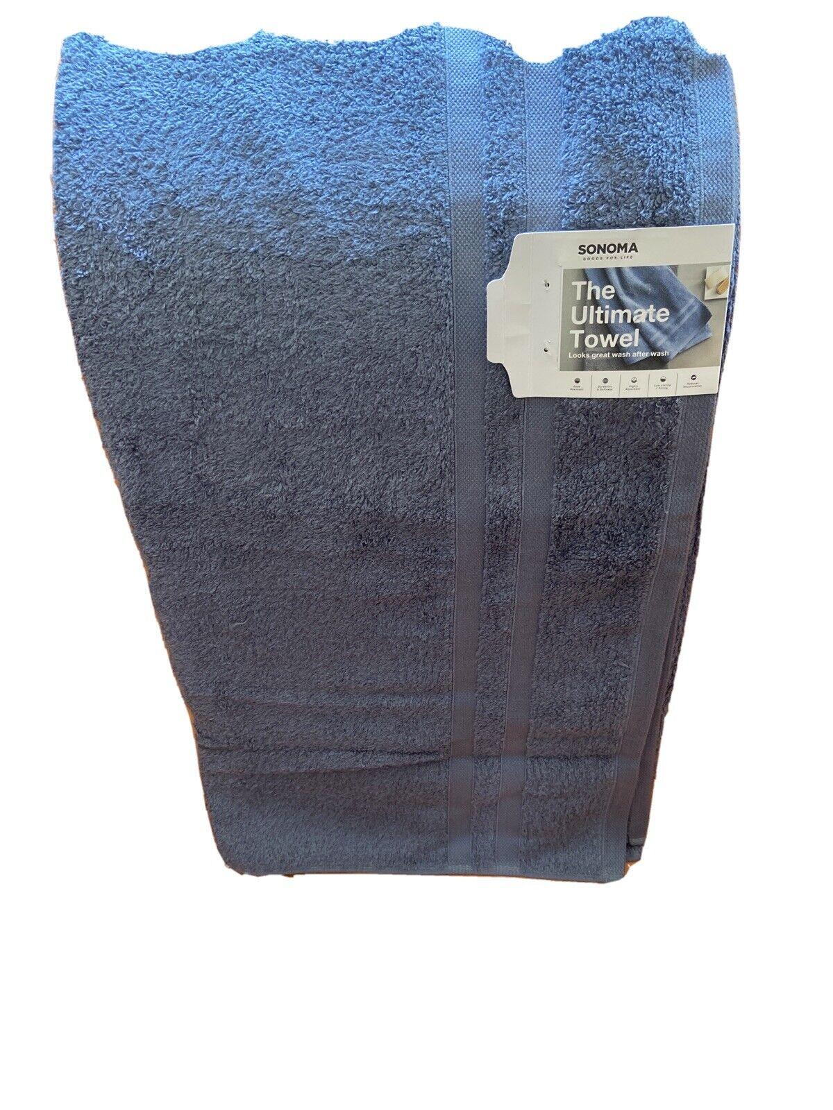"1 Pack Sonoma Blue 30""x54"" Pool/Beach Cabana Bath Towel 100% Cotton"