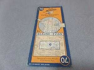 Carte Michelin N 70 BEAUNES EVIAN 1936 Collector