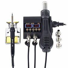 Hot Air Gun 2 In 1 750w Lcd Digital Display Bga Smd Pcb Ic Repair Solder
