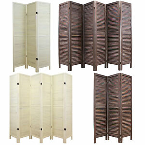 WOODEN SLAT ROOM DIVIDER PRIVACY SCREENPARTITIONBLIND WIDE SHABBY