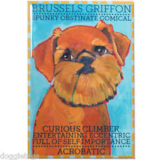 Belgian Griffon - Dog Portrait - Fridge Magnet - Reproduction Oil Painting